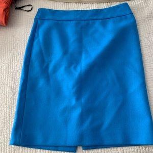J. Crew Blue Wool Pencil Skirt